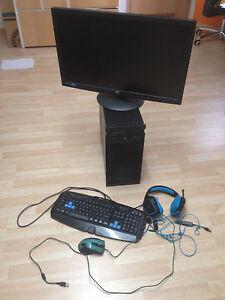 Gaming PC + 27 Zoll Monitor+ Headset+ Maus und Tastatur