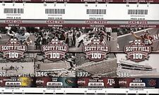 2014 MISSISSIPPI STATE FULL FOOTBALL SEASON TICKET STUB STRIP SHEET DAK PRESCOTT