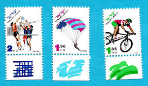 Sport Volleyball Paragliding Bike Cycling Israel Parachute - Full Set MNH
