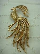 VINTAGE GOLD TONE BIRD OF PARADISE PIN BROOCH BY AVON