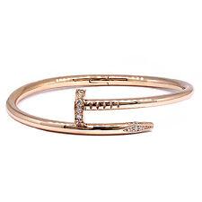 14k solid Rosa Oro UNGHIE BRACCIALETTO 0.27CT Diamante
