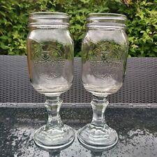 More details for 2 x bubba gump shrimp company restaurant advertising glass mason jar.
