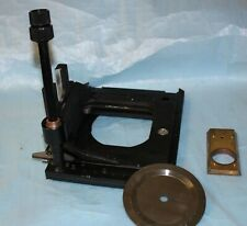 Nikon Diaphot Mechanical Square Specimen Microscope Stage Used