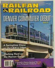 Railfan & Railroad May 2016 Denver Commuter Debut Train Transit FREE SHIPPING sb