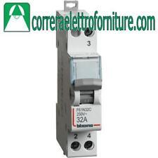 BTICINO F61N32C COMMUTATORE 1-0-2 32A 250V ZERO CENTRALE 1MODULO DIN