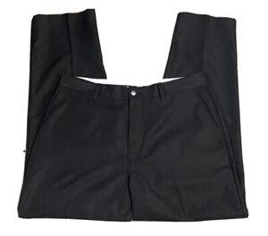 Callaway Golf Pants Black Flat Front Performance Mens  34x30