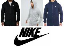 NIKE Sportswear Club Full Zip Fleece Hoodie For Men Black Navy Grey SM L XL Gift