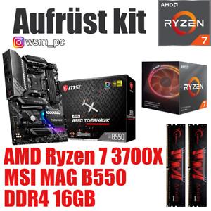 AMD 🆁🆈🆉🅴🅽 7 3700X ● MSI B550 Mainboard ● 16GB RAM ● Ryzen PC Bundle Kit