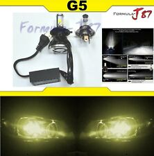 LED Kit G5 40W 9003 HB2 H4 3000K Yellow One Bulb Head Light Replace Motorcycle