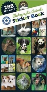 Photographic Animals Sticker Book (288 Stickers) - 12 Sheets
