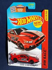 Hot Wheels NEW For 2015 World Race Series #154 Custom '15 Mustang Red w/ PR5s