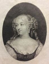 Mademoiselle de Fontanges (1661-1681) Jean Petitot Ceroni 1868 Miniature