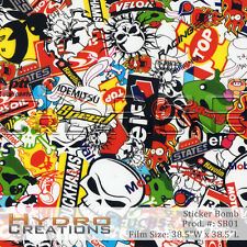 HYDROGRAPHIC FILM FOR HYDRO DIPPING WATER TRANSFER FILM STICKER BOMB
