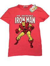 Primark Da Uomo L'INVINCIBILE IRON MAN MARVEL CLASSIC T Shirt ufficiale nuovo con etichetta S