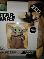 NEW Baby Yoda The Child Throw 40 x 50 Disney Star Wars Mandalorian  Blanket Soft