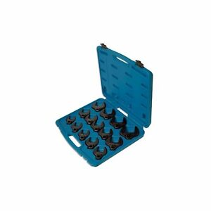 """Laser Tools Crow's Foot Spanner Set Wrench Set 1/2"""" Drive 27-50mm 4713 14 Piece"""