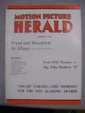 MOTION PICTURE HERALD MAGAZINE FEBRUARY 22 1958 MARK OF THE HAWK