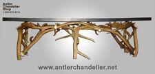 REAL ANTLER ELK/FALLOW COFFEE TABLE, DEER, RUSTIC LIGHTING, CHANDELIER LAMP