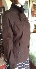 Black Barbour Jacket With Plenty Of Pockets Size 12