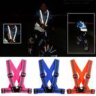 Reflective Adjustable Safety Security High Visibility Vest Gear Stripes Jacket M