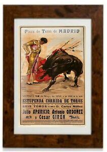 Spanish Bullfighter Matador Vintage Travel Poster Framed Print