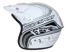 Wulfsport Small White Action Trials Motorbike Open Face Helmet Lid Motocross MX