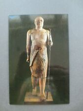 Postcard Egypt Egyptian Museum Cairo Ka-Aper Sheikh el Beled 5th Dynasty Statue