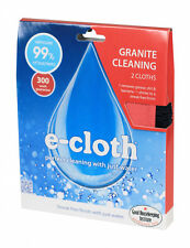 e-cloth Pack of 2 Granite Cloth Cleaning Worktops Polishing Grease Work Surface