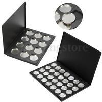 28 Grid 25mm Empty Eyeshadow Eye Shadow Aluminum Pans Palette Case Makeup Tool