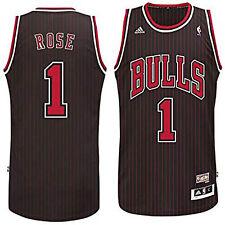 Chicago Bulls Derrick Rose #1 Stitched Black Hardwood Classics Swingman Jersey