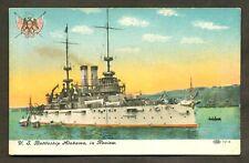 Vintage Postcard - USS Battleship Alabama BB-8 US Navy Ship