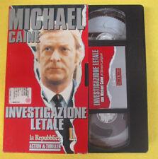 VHS film INVESTIGAZIONE LETALE Michael Caine LA REPUBBLICA action (F107*) no dvd