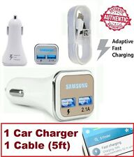 OEM Samsung Adaptive Fast Car Charger Adapter for Galaxy Note 4 5 S6 S7