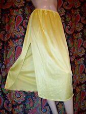 """Vintage Vassarette Yellow Silky Nylon Slit Half Slip Lingerie S 30"""""""