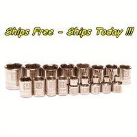 Craftsman 17pc Piece 3/8 Drive 6pt Metric MM Laser Etched Easy Read Socket Set