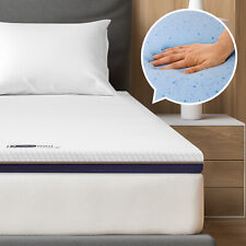BedStory 7,6cm Gelschaum Topper Matratzentopper 2 in 1 Gel-HR Memory Foam H2+H3
