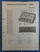 SABA Service Instruction Regie Mixer II deutsch englisch französisch B22412