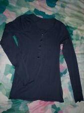 Marc O'Polo Sweatshirt Basic Damen jeansblau langarm Gr. S/36 TOP