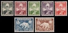 Grönland 1938 - Mi-Nr. 1-7 ** - MNH - Freimarken / Definitives