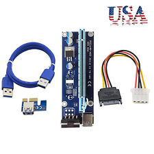 PCI-E USB3.0 Express 1x to 16x GPU Extender Riser Card Adapter Power Cable 4Pin