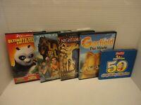 Kid Movies Pack Lot Garfield Night at Museum Land of the Lost Kung Fu Panda DVD