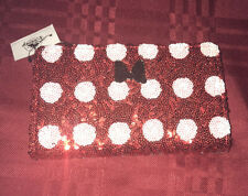 Disney Parks Loungefly Minnie Mouse Red Sequin With White Dots Wallet New