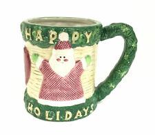 Omnibus by Fitz & Floyd Santa Happy Holidays Christmas Decorated Beverage Mug