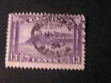 CANADA, SCOTT # 201, 13c. VALUE DULL VIOLET 1932 KGV ISSUE USED