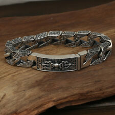 Bracelet Vajra Link Chain Lection Jewelry Heavy Men's Solid 925 Sterling Silver