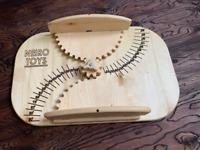 Wooden Balance-Board with Adjustable Base, Eco-friendly Birch Plywood 55x35x11cm