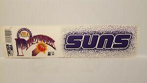 PHOENIX SUNS #2  Vintage Team Bumper Sticker (1990's) Decal Strip