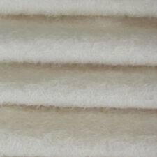 """1/4 yd 300S/CM White INTERCAL 1/2"""" Ultra-Sparse Curly Matted Mohair Plush Fabric"""