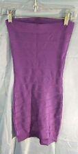 French Connection Sleeveless Tube Top Bandage Dress Purple sz 0 NWOT