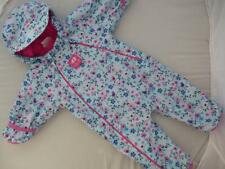 Rare JOJO MAMAN BEBE Waterproof Fleece Lined All In One SNOWSUIT 0-3m BIRD Rain